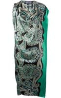 Lanvin Paisley Print Draped Dress - Lyst