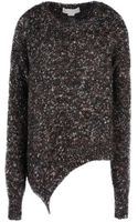 Stella McCartney Chunky Knit Asymmetric Jumper - Lyst