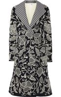 Oscar de la Renta Embroidered Stretchwool Coat - Lyst