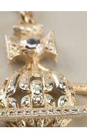 Vivienne Westwood Diamante Orb Necklace - Lyst
