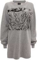 McQ by Alexander McQueen Manga Kimono Sweatshirt Dress - Lyst