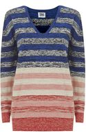 Sonia By Sonia Rykiel Multistriped Sweater - Lyst