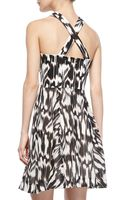 Trina Turk Bellicity Printed Crossneck Keyhole Dress - Lyst