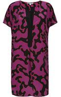 Diane Von Furstenberg Silk Shift Dress - Lyst