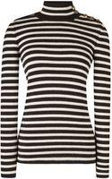 Bouchra Jarrar Striped Wool and Alpaca Blend Sweater - Lyst