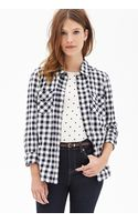 Forever 21 Gingham Plaid Shirt - Lyst
