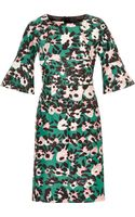 Marni Printed Cotton and Silkblend Twill Dress - Lyst