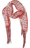Dolce & Gabbana Oblong Scarf - Lyst