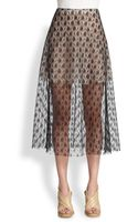 Stella McCartney Lace Aline Midi Skirt - Lyst