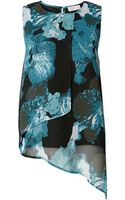 Label Lab Smudge Iris Print Layered Top - Lyst