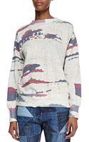 Etoile Isabel Marant Hana Abstract Print Sweatshirt - Lyst