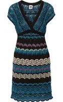 M Missoni Crochet Knit Mini Dress - Lyst