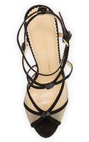 Charlotte Olympia Isadora Strappy Suede Sandal Red - Lyst