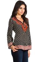 Tolani Isabelle Blouse in Black - Lyst