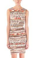 Mara Hoffman Fringe Print Neoprene Dress - Lyst