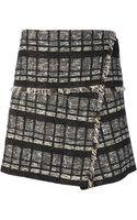 Proenza Schouler Wrap Style Tweed Skirt - Lyst