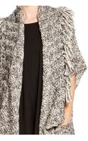 DKNY Pure Fringe Open Front Cardigan - Lyst
