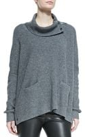 Vince Oversize Snapturtle Neck Sweater - Lyst