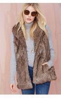 Nasty Gal Boulder Faux Fur Vest - Lyst