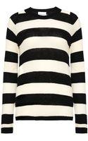 Ganni Merino Stripe Sweater - Lyst