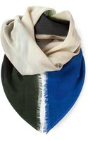 Bottega Veneta Colour Block Scarf - Lyst