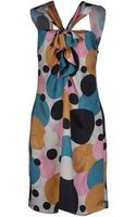 John Galliano Kneelength Dress - Lyst