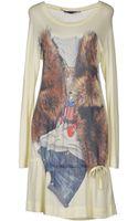Love Moschino Printed Jersey Short Dress - Lyst