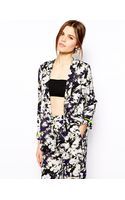 Asos Blazer in Floral Print with Fluro Trim - Lyst