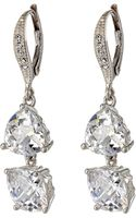 Judith Jack Shine On Double Cz Drop Earrings - Lyst