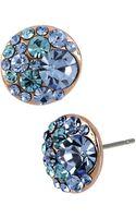 Betsey Johnson Multiblue Crystal Stud Earrings - Lyst