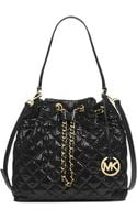 Michael Kors Michael Frankie Quilted Large Convertible Shoulder Bag - Lyst