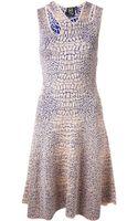 McQ by Alexander McQueen Croco Flirt Dress - Lyst