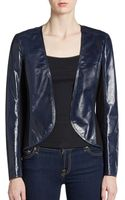 Lafayette 148 New York Cropped Leather Jacket - Lyst