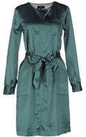 Le Mont St Michel Long-Sleeves Cotton & Silk Blend Short Dress - Lyst