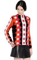 Valentino Dot Motif Wool Blend Sweater - Lyst