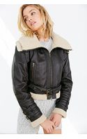 BDG Shearling Faux Leather Jacket - Lyst