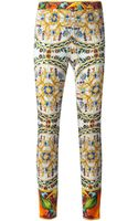 Dolce & Gabbana Stain Glass Trousers - Lyst