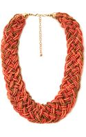 Forever 21 Eclectic Braided Bead Necklace - Lyst