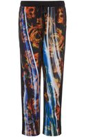 Clover Canyon Blue Smoke Rose Tapered Trousers - Lyst
