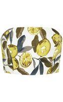 Topshop Petite Lemon Print Bandeau Top - Lyst