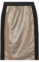 Mason by Michelle Mason Metallic Leather and Ponte Pencil Skirt - Lyst