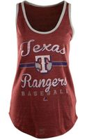 Majestic Womens Texas Rangers Authentic Tradition Tank Top - Lyst