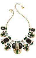 Kate Spade New York Goldtone Green Crystal Pavé Statement Necklace - Lyst