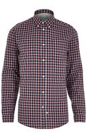 River Island Red Movember Check Charity Shirt - Lyst