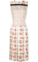Tanya Taylor Red Blob Silk Corinna Dress - Lyst