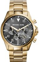 Michael Kors Mens Chronograph Gage Goldtone Stainless Steel Bracelet Watch 45mm - Lyst