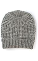Duffy Knitted Slouchy Beanie Hat - Lyst