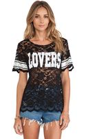 Lovers + Friends Lovers Lace Athletic Tee - Lyst