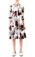 Marni Woodcut Lilyprint Poplin Dress - Lyst