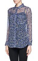 Equipment Leopard Print Silk Shirt - Lyst